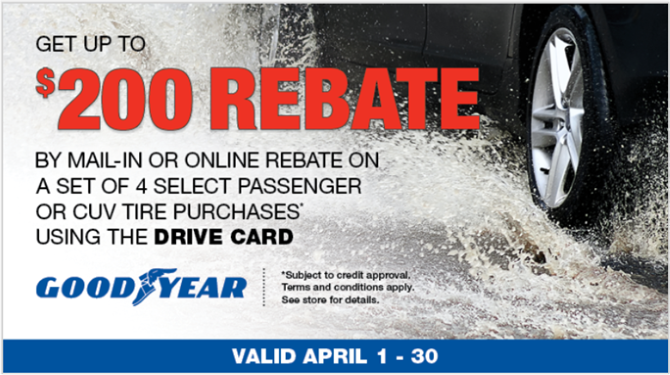 Goodyear Tire Rebate Banner