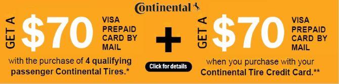 Continental Tires Rebate