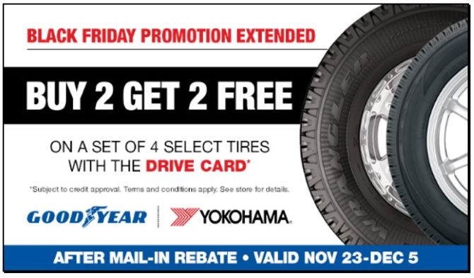 Goodyear yokohama tire rebate