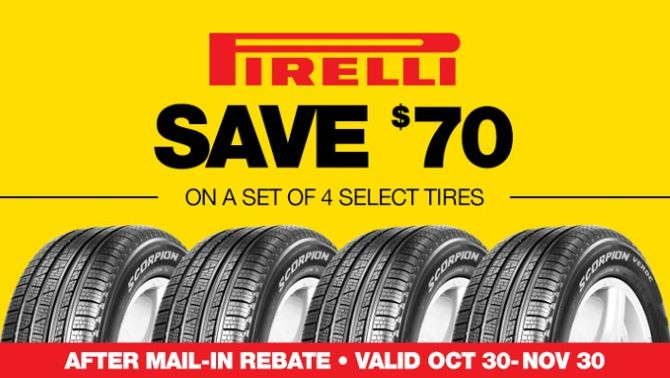 Pirelli Rebate