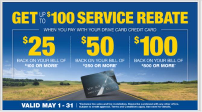 service rebate