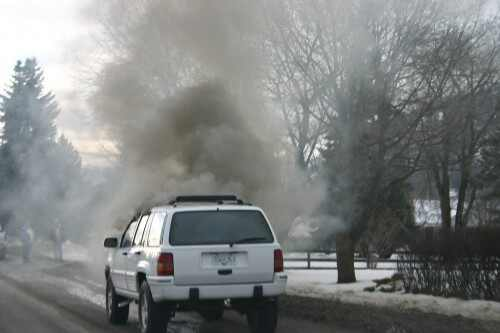 overheated engine, car problems