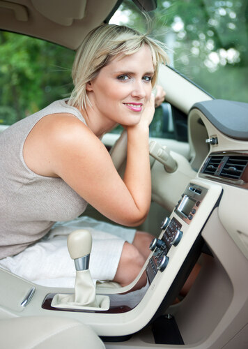 woman driving, A/C