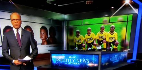Wade quadruplets in their Car-X team sponsored soccer jerseys