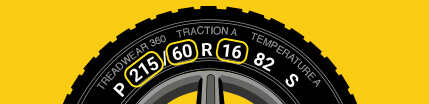 Where to look on the tire for tire sizing