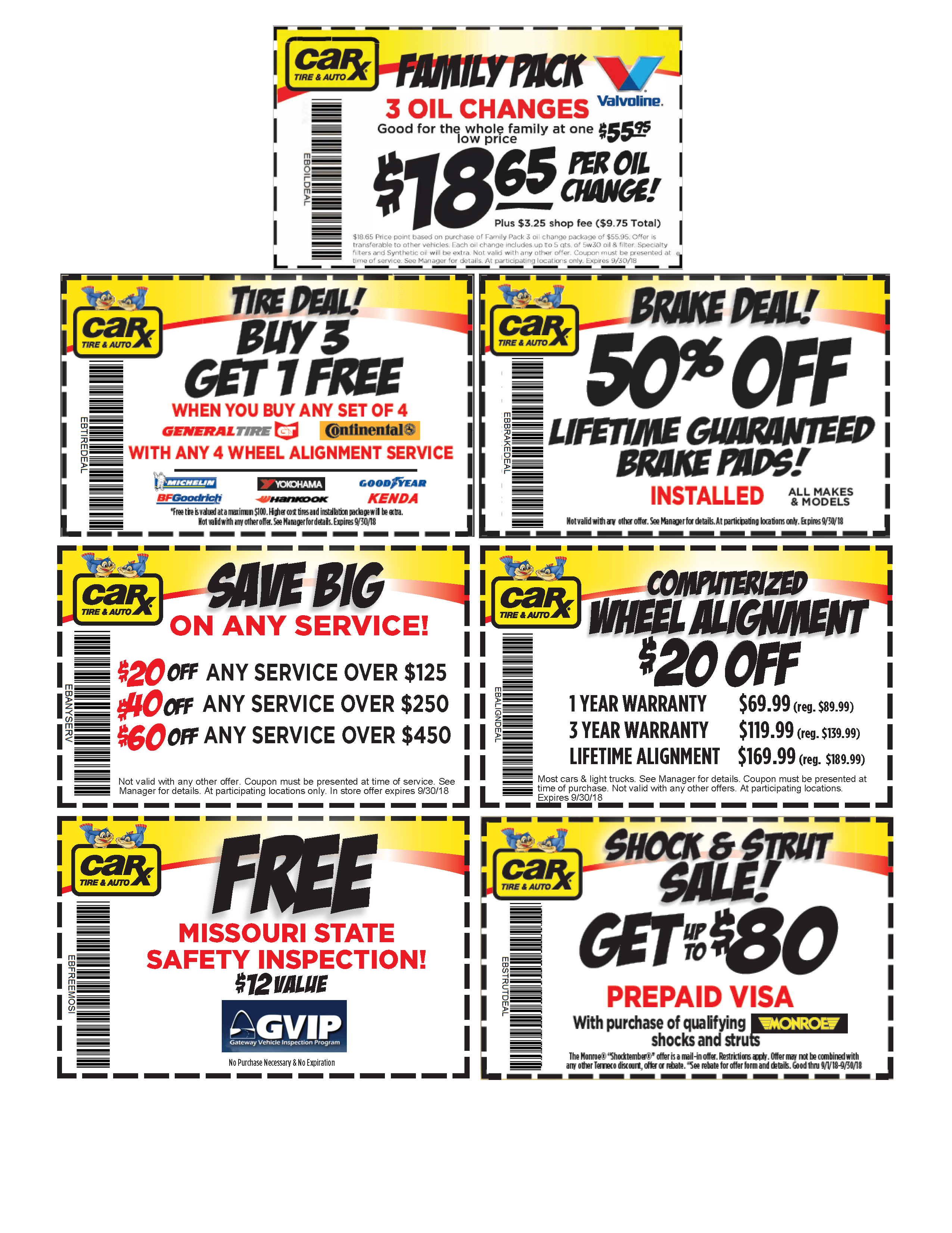 Front End Alignment Coupons >> St Louis Area Auto Repair Coupons From Car X September Brex Car X