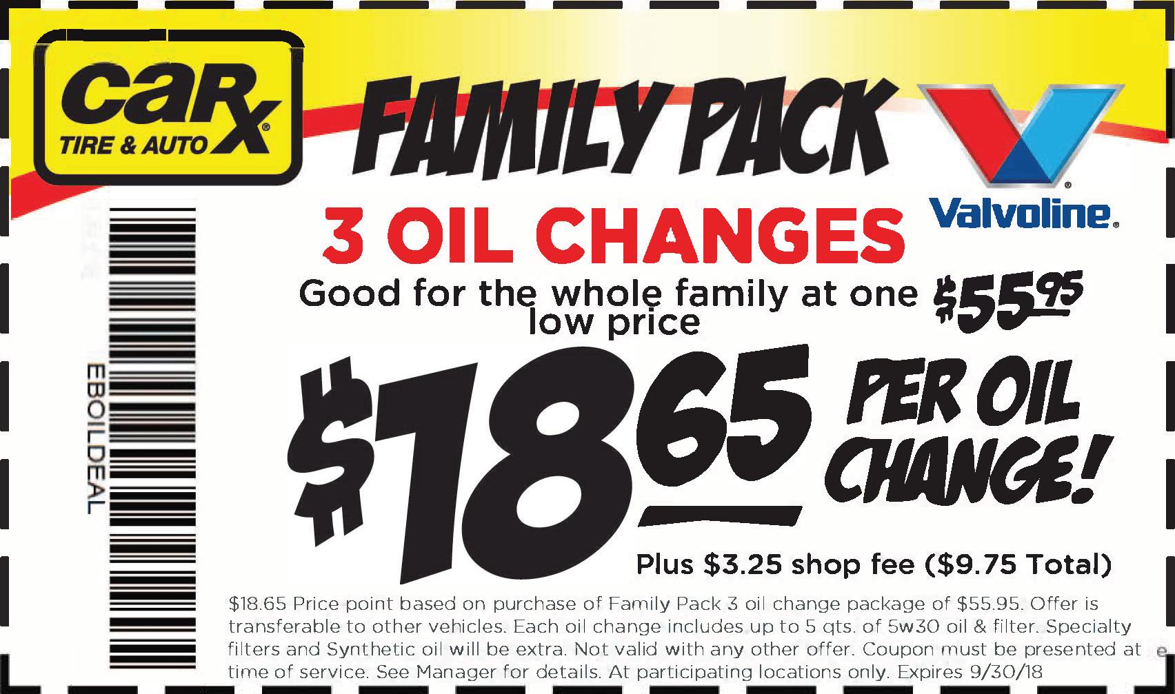 Valvoline oil change coupon st louis