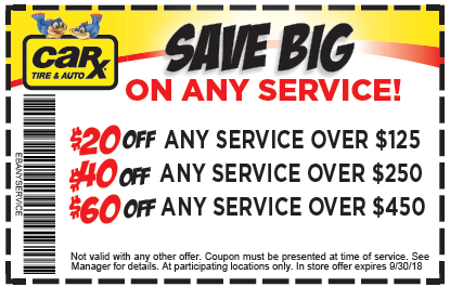 St Louis Area Auto Repair Coupons From Car X September