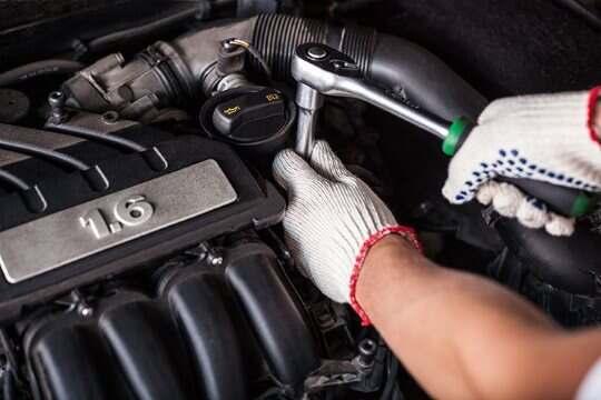 Engine repair on a car