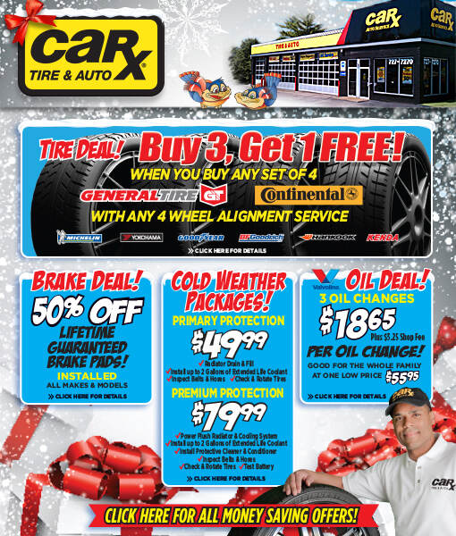 St. Louis Area Auto Repair Coupons From Car-X -December