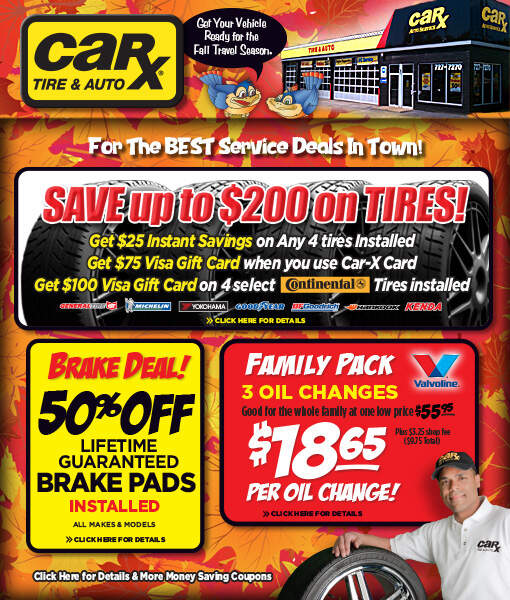 St. Louis Area Auto Repair Coupons From Car-X -November