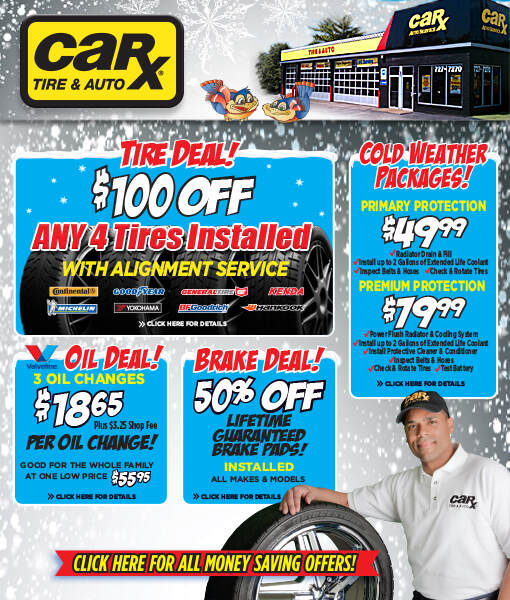 St. Louis Area Auto Repair Coupons From Car-X -January
