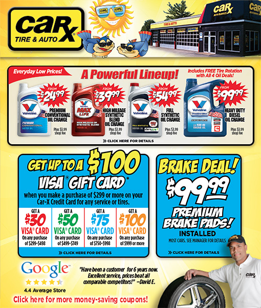 Chicago Area Auto Repair Coupons From Car-X